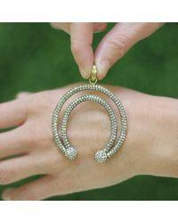 Sylva & Cie | Metallic Diamond Horse Shoe Pendant | Lyst