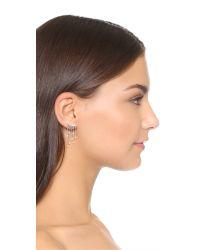 Rebecca Minkoff | Metallic Crystal Fringe Earrings | Lyst