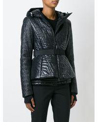 Moncler Grenoble - Black Belted Padded Jacket - Lyst