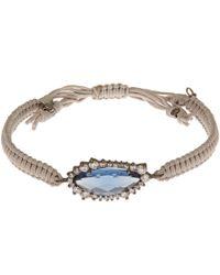 Tai - Grey Blue Woven Braid Gem Bracelet - Lyst