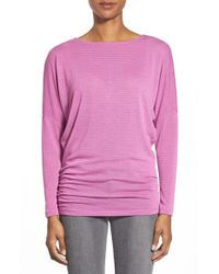 Caslon | Purple Scoop-Back Knitted Top | Lyst