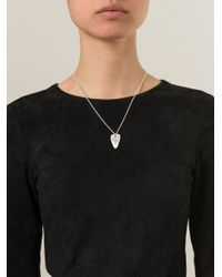 Bjorg - Metallic I Really Really Love You Necklace - Lyst