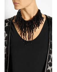 Rosantica - Black Anemone Gold-Dipped Onyx Necklace - Lyst