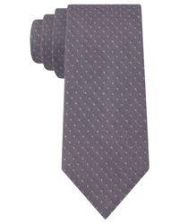 Calvin Klein - Purple Lilac Dot Skinny Tie for Men - Lyst