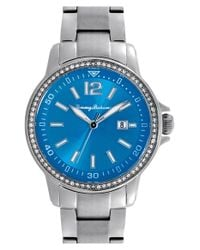 Tommy Bahama - Blue 'island Breeze' Crystal Bezel Bracelet Watch - Lyst