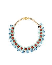 Shourouk | Blue Flora Aqua Necklace | Lyst