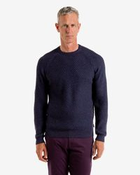 Ted Baker | Purple Textured Raglan Sleeved Sweater for Men | Lyst