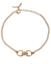 Dinny Hall | Pink Rose Gold Vermeil Toro Chain Bracelet | Lyst