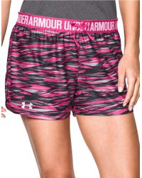Under Armour | Gray Play Up Print Athletic Shorts | Lyst