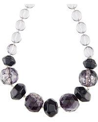 Armani - Black Multi Bead Necklace - Lyst