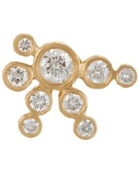 Sophie Bille Brahe - Metallic Diamond & Gold Flacon De Neige Earring - Lyst