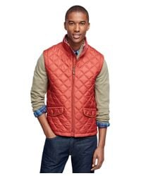 Brooks Brothers | Red Diamond Quilted Vest for Men | Lyst