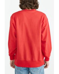 Champion | Red Reverse Weave Sweatshirt for Men | Lyst