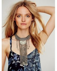 Free People | Metallic Womens Exaggerated Fringe Collar | Lyst