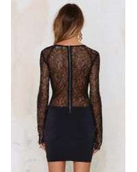 Nasty Gal | Black In The Right Lace Bodycon Dress | Lyst