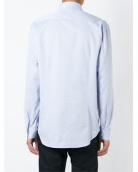 Etro - Blue Micro Print Shirt for Men - Lyst