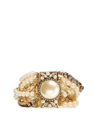 Erickson Beamon | Metallic Lady And The Tramp' Mix Twist Glass Pearl Bracelet | Lyst