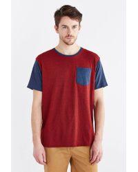 BDG | Red Tri-blend Colorblocked Pocket Standard-fit Tee for Men | Lyst