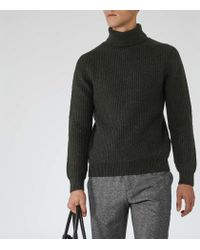 Reiss | Green Alfred Ribbed Rollneck Jumper for Men | Lyst