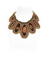 Sveva Collection | Multicolor Velvet Necklace | Lyst