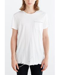 Neuw | White Destroyed Enkel Pocket Tee for Men | Lyst