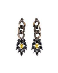 Iosselliani | 'black On Black Memento' Earrings | Lyst