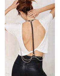 Nasty Gal - Metallic Jakimac Whisper Studded Leather Harness - Lyst