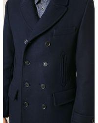 Paul & Joe - Blue Double Breasted Coat for Men - Lyst