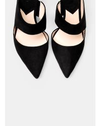 Mango | Black Slingback Shoes | Lyst