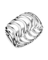 Calvin Klein | Metallic Stainless Steel Curved Link Bracelet | Lyst