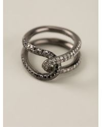 Spinelli Kilcollin - Metallic Interlocking Diamond Ring - Lyst