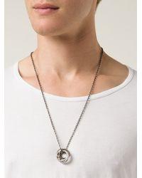 Werkstatt:münchen | Metallic Four Ring Necklace for Men | Lyst
