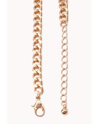 Forever 21 - Metallic Sweet Floral Bib Necklace - Lyst