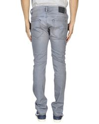 DIESEL - Gray Denim Trousers for Men - Lyst
