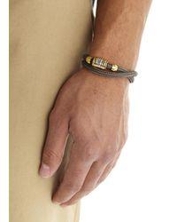 Miansai - Black Charcoal Double Wrap Rope Bracelet for Men - Lyst
