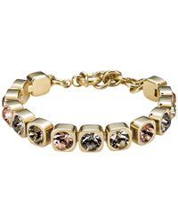Dyrberg/Kern | Metallic Dyrberg/kern Conian Swarovski Crystal Gold Plated Bracelet | Lyst