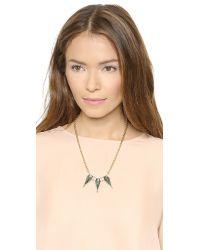 Rebecca Minkoff | Metallic Triple Blades Necklace - Black Diamond Crystal | Lyst