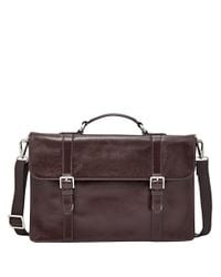 Fossil | Brown Thompson Portfolio Case0202-mbg9221 for Men | Lyst
