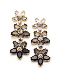 kate spade new york | Black Ombre Bouquet Linear Earrings | Lyst