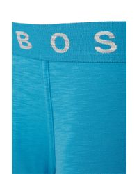 BOSS - Blue Boxer Shorts In Stretch Cotton: 'boxer Authentik' for Men - Lyst