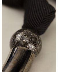 Lanvin - Metallic Ball Ribbon Necklace - Lyst