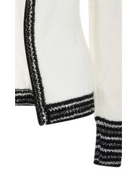Rodarte - White And Metallic Cashmere Knit Cardigan - Lyst
