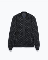 Zara | Black Quilted Jacket for Men | Lyst