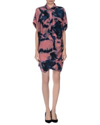 IRO | Pink Short Dress | Lyst