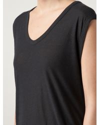 T By Alexander Wang - Black Muscle T-Shirt - Lyst