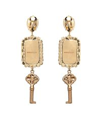 Dolce & Gabbana - Metallic Key And Flower Drop Earrings - Lyst