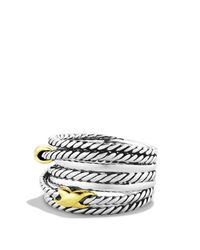 David Yurman - Metallic Double X Crossover Ring - Lyst