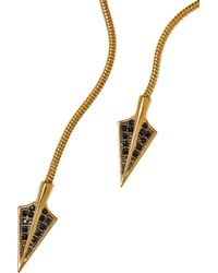 Noir Jewelry - Metallic Gold-Plated Cubic Zirconia Arrowhead Necklace - Lyst