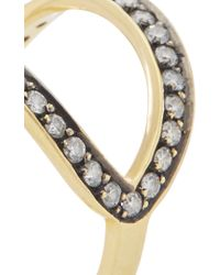Ara Vartanian - Metallic Gold Double Band Diamond Ring - Lyst