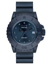 Emporio Armani - Blue Strap Watch for Men - Lyst
